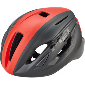 MET Strale Kask rowerowy, black/red panel